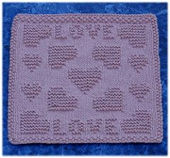 Surrounded With Love Dishcloth pattern by Rachel van Schie