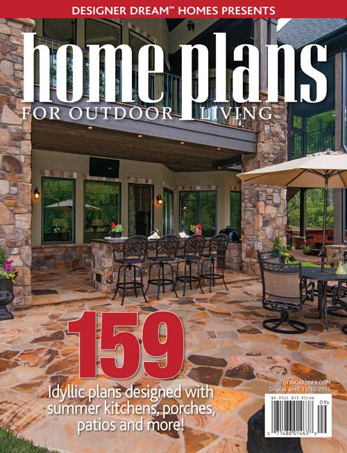 Full magazine available for free home plans for outdoor for Outdoor living magazine