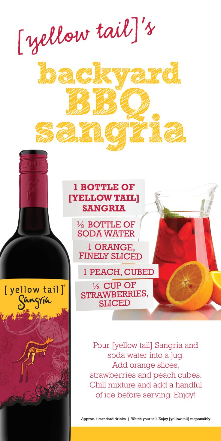 Backyard BBQ [yellow tail] sangria #sangria #party