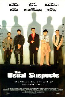 The Usual Suspects - in my top 3 all time favorite movies - quotable lines, great story, one of the best endings to a movie ever ... and a great spoof-job by the late Leslie Nielson in  ... guess what movie!