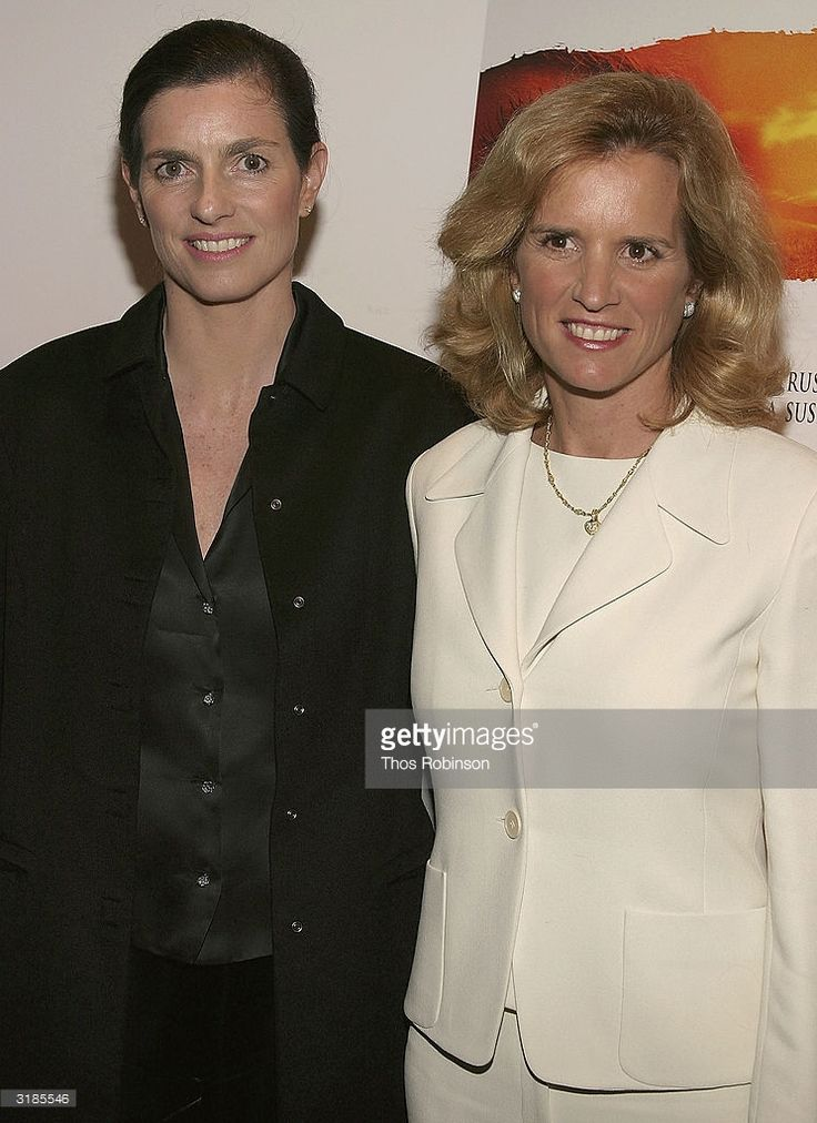 Mary Kennedy and Kerry Kennedy Cuomo attend the Premiere of 'I'm Not Scared' at Lighthouse International on March 31, 2004 in New York City.