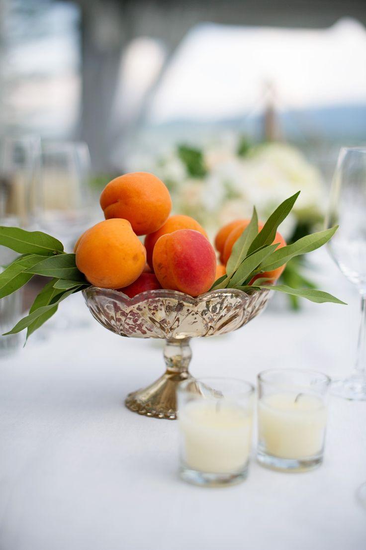 natural fruit centerpieces | Photo Credit: Jamee Photography