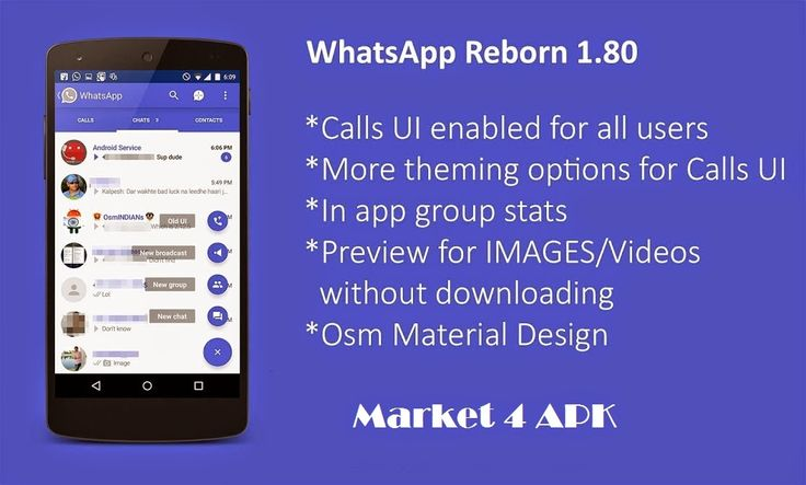 WhatsApp Reborn 1.80 Plus AntiBan Ban Proof Material Design ~ ..:: Market 4 APK ::.. - The All In One Site For Your Android Device.