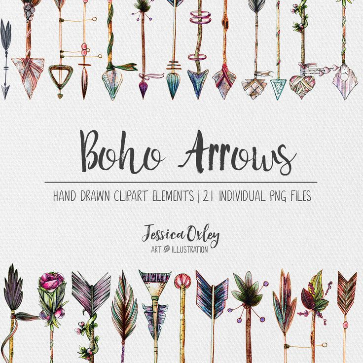 A personal favourite from my Etsy shop https://www.etsy.com/au/listing/511272555/boho-clipart-boho-arrows-watercolour