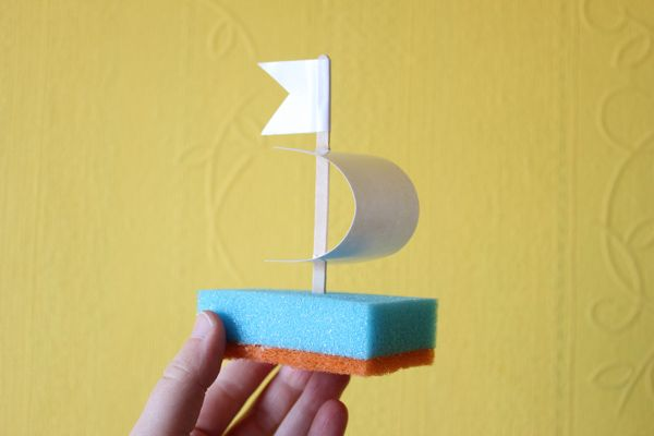 Vicky Knysh: Kitchen Sponge Boat