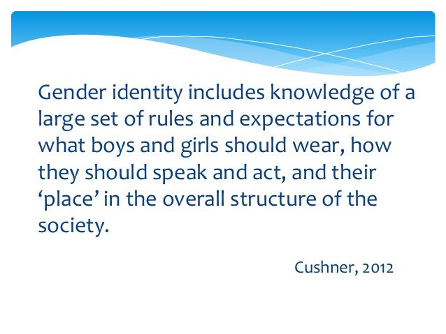Gender stereotype – a form ofprejudgment, bias or limitationgiven to roles and expectations ofmales and females.