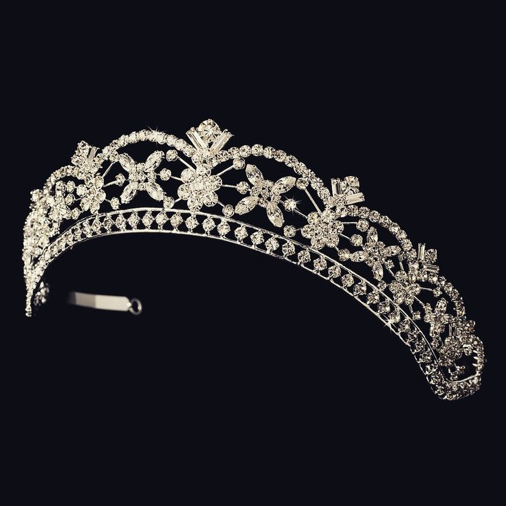 """The Anne"" Rhinestone Bridal Tiara Headpiece"