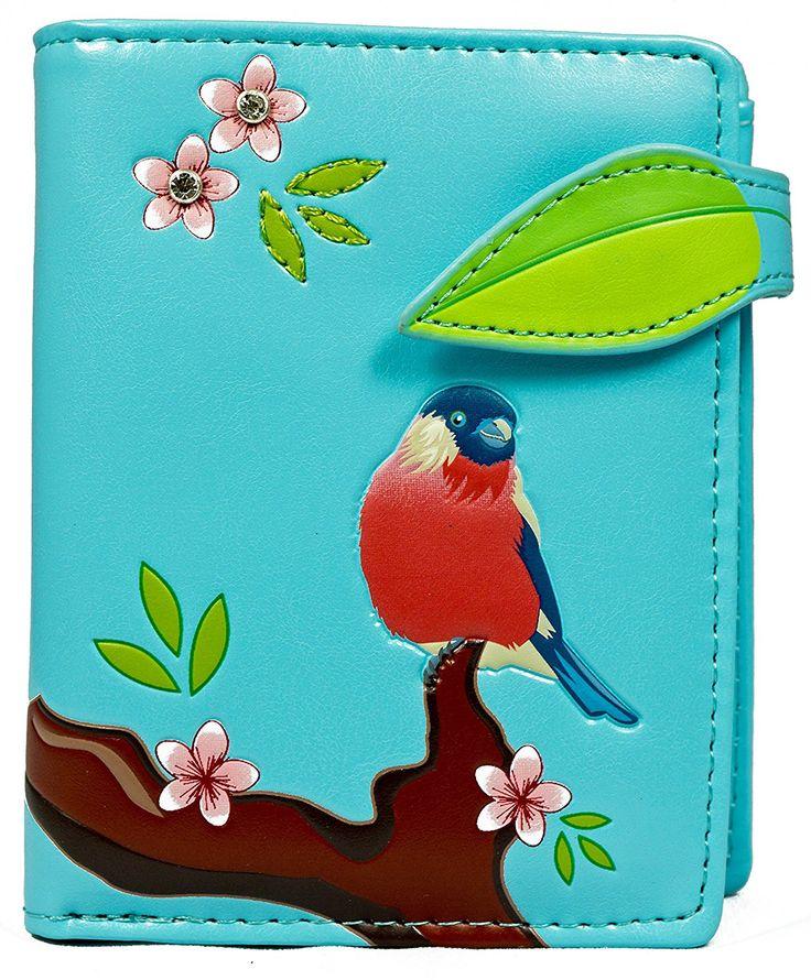 Shagwear portafoglio per giovani donne Small Purse : Diversi colori e design: (pettirosso azzurro / Red Crested): Amazon.it: Valigeria