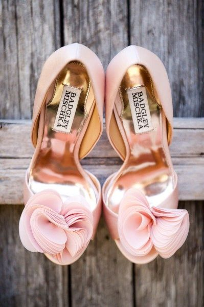 These Badgley Mischka shoes would make any bride pretty in pink.