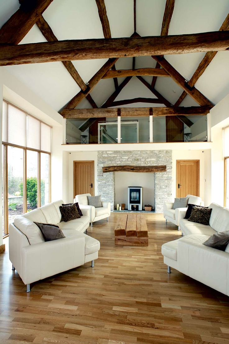 A listed stone barn near Bristol has been stunningly converted into a  contemporary home.