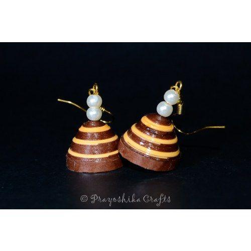 Double color plain jhumka earrings...