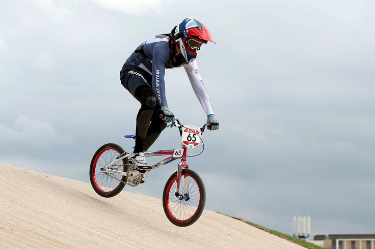 Day twelve: Liam Phillips of Great Britain riding towards his seeding time in the Men's BMX.