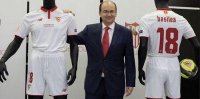camisetas de futbol online 2018: Camiseta Sevilla 2018