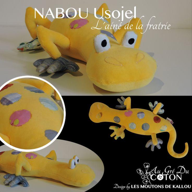 #Nabou Usojel adopté   Juin 2016 Licence : Les Moutons de Kallou Tissus : Jersey de coton jaune et cotons multicolores