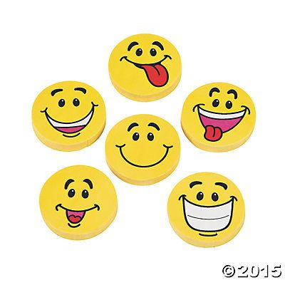 Emoji Erasers - 6 Pack Party Supplies Canada - Open A Party