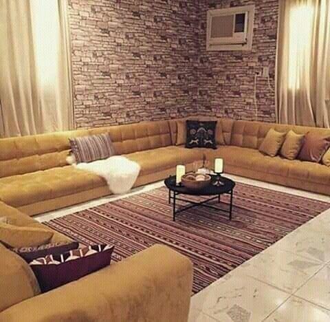 ارقى الموديلات لصلونات عربية فخمة صالونات ارضية رائعة و انيقة مستوحا Living Room Decor Apartment Living Room Design Small Spaces Small Living Room Furniture