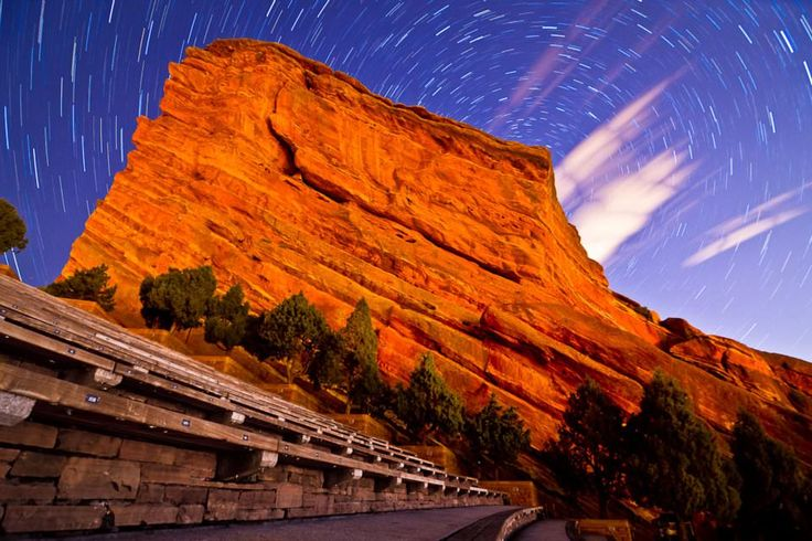 Colorado- Red Rocks Park and Amphitheatre. When there's a good concert we are so going!!