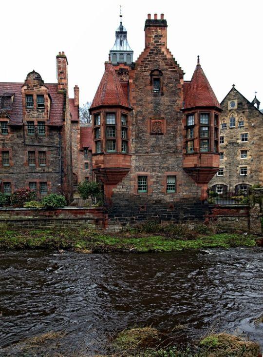 Water of Leith, Dean Village, Edinburgh, Scotland, by Pieter Bos. More