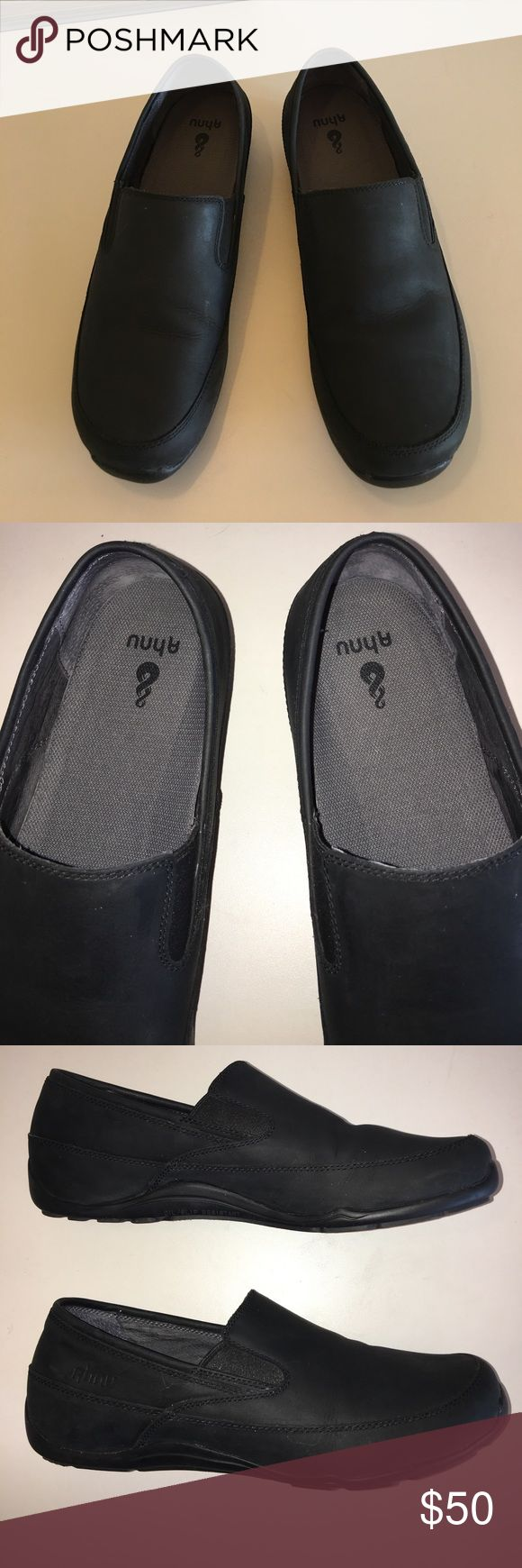 Ahnu Men's Jack Pro Casual Slip LoaferColor:Black Ahnu Men's Jack Pro Casual Slip On LoaferColor:Black  100% Leather • Imported • Rubber sole • Waterproof leather slip on • 3D-i drop line ethylene vinyl acetate wedge midsole for comfort • Slip resistant carbon rubber and tread pattern designed for wet and oily surfaces • Moisture wicking synthetic mesh amd pigskin lining for comfort and breathability • Internal nylon shank for support Ahnu pro Shoes Loafers & Slip-Ons