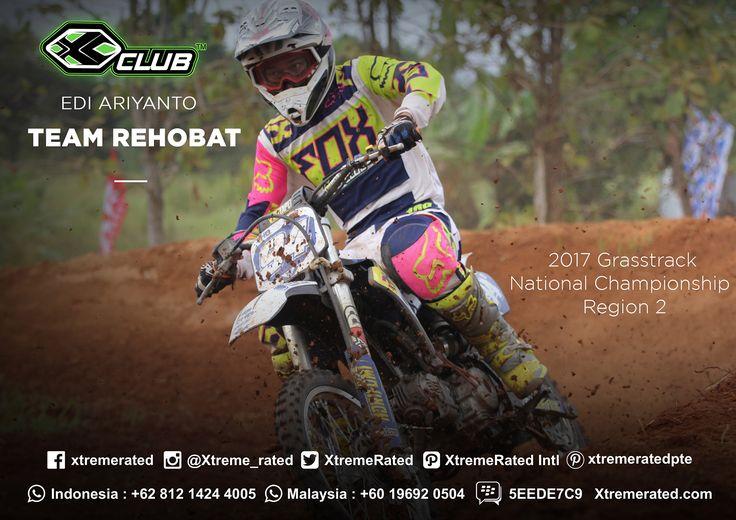 EDI ARIYANTO SERIES 6 (AGUSTUS, 12th – 13th 2017) 2017 Grasstrack National Championship Region 2 CIRCUIT NGABLAK. KOPENG, MAGELANG, Indonesia  #xtremerated #xclub #grasstrack #indonesia