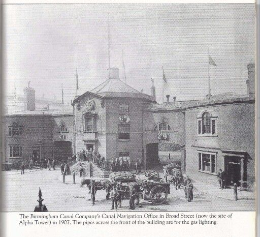 The Birmingham canal company's canal navigation office broad st (where alfa tower now stands )