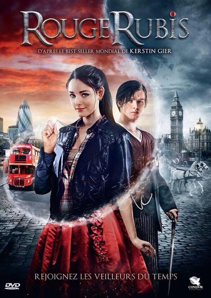El póster de Rubinrot para Francia!!!! Es bellísimo se ven Gwen y Gideon en el pasado y en el presente. Genial!!!