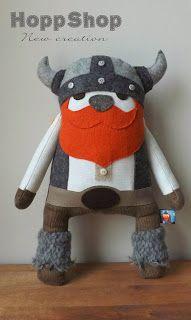 Doudou viking plush
