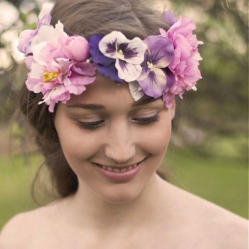 Floral wreath headband, handmade design by Samodiva