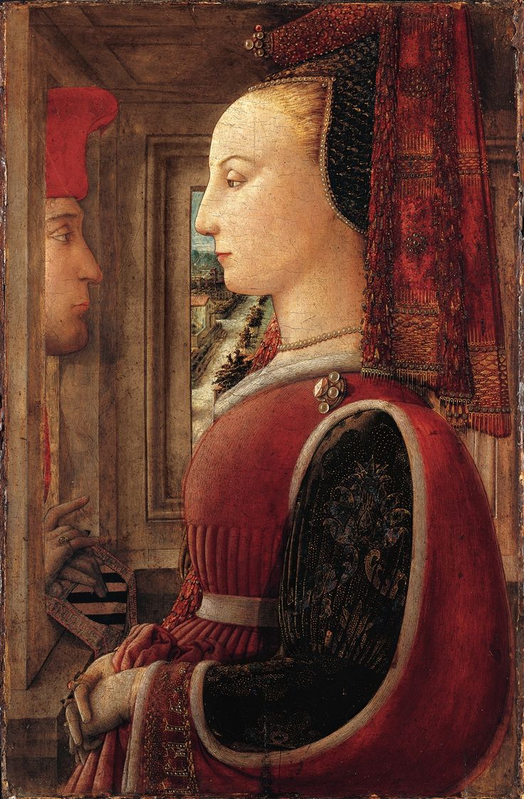 Portrait of a Man and a Woman: 1440 by Fra Filippo Lippi (Metropolitan Museum of Art - New York, NY) - Early Renaissance