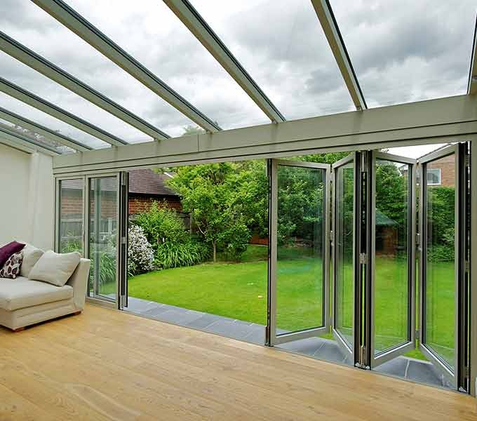 We Really Like The View From This 7 Leaf Aluminium Door