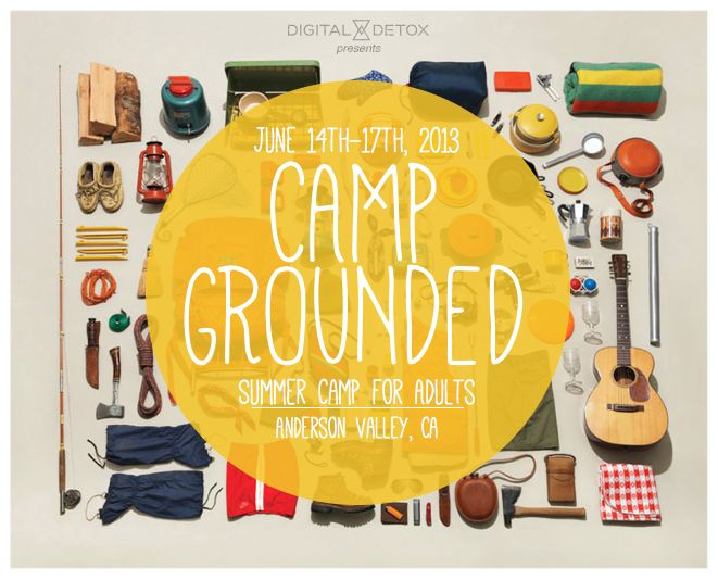 """Camp Grounded is an all-inclusive summer camp which aims to get adults to trade in their """"computer, cell phone, Instagrams, clocks, schedules and work-jargon for an off-the-grid weekend of pure unadulterated fun."""" Promised activities include creative workshops, writing sessions, pillow fights, roasted marshmallows, and more."""