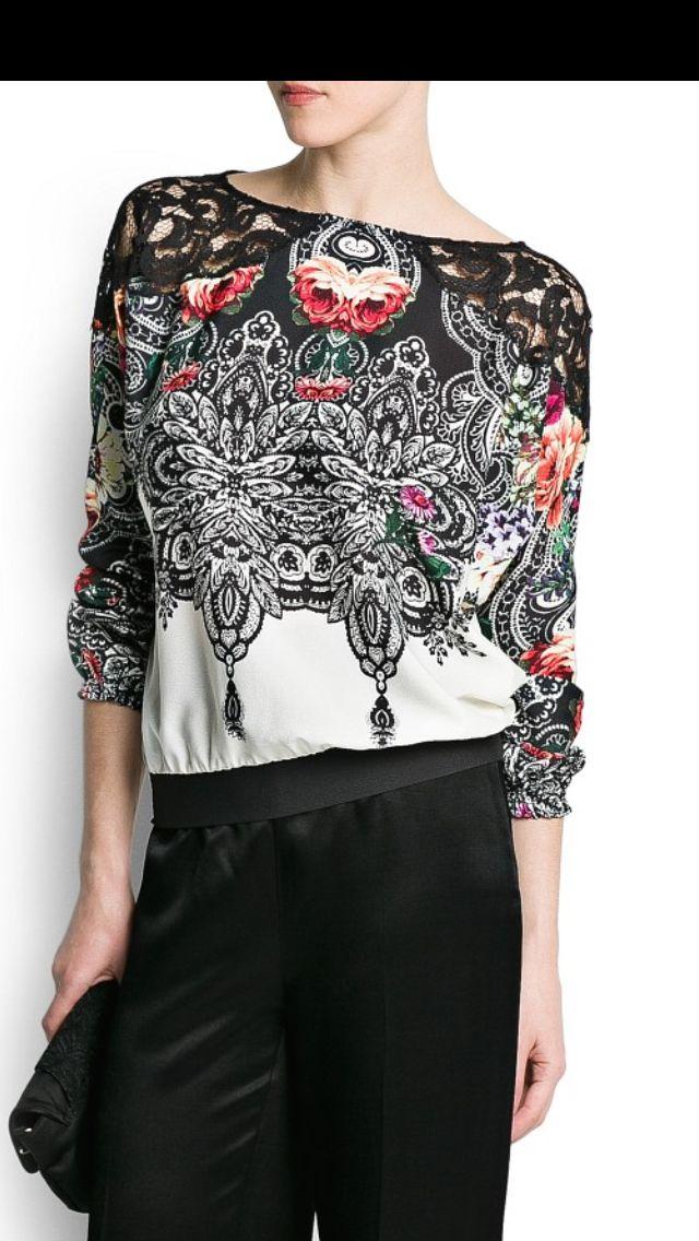 Lace + Print = Heaven