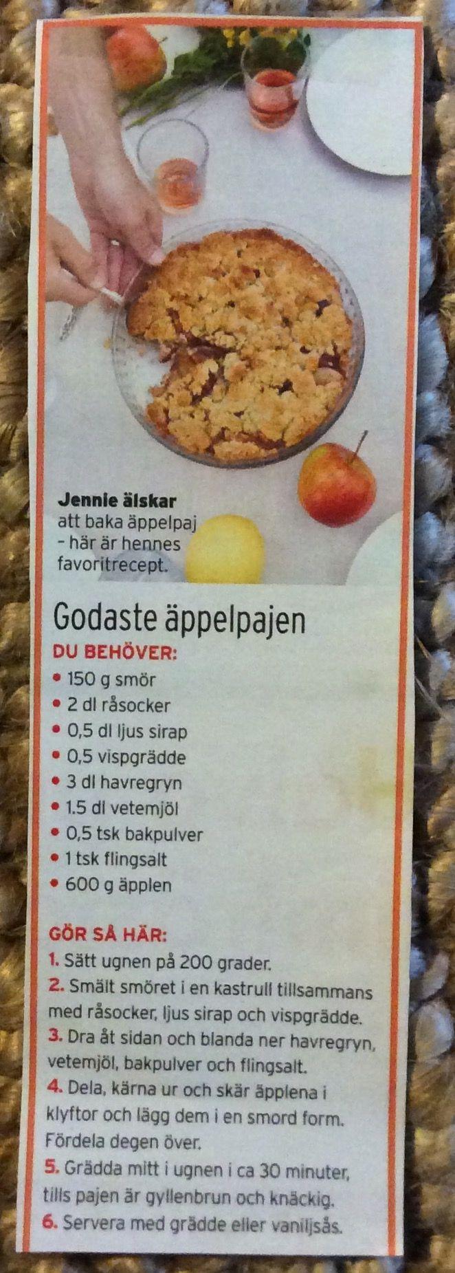 Godaste Äppelpajen