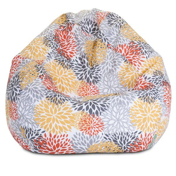A great addition to any family room, playroom or outdoor seating arrangement, the Majestic Home Goods Citrus Blooms Small Bean Bag allows your child to read or watch a favorite show in the utmost comfort. This beanbag is generously filled with eco-friendly polystyrene beads and features a removable zippered slipcover. Spot clean slipcover and hang dry. Do not wash insert. This bean bag has an outdoor treated polyester slipcover, with up to 1000 hours of U.V. protection that zips off for easy…