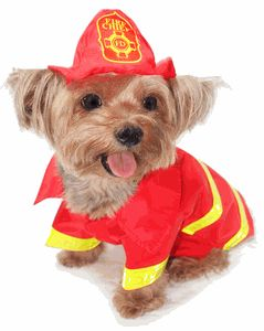 Little Fireman Dog Costume (exchange only, no refunds)