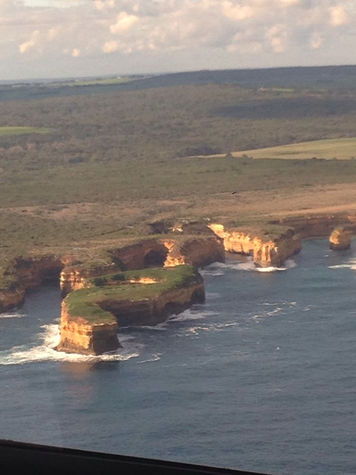 View of 12 apostles (Great Ocean Road) from a helicopter