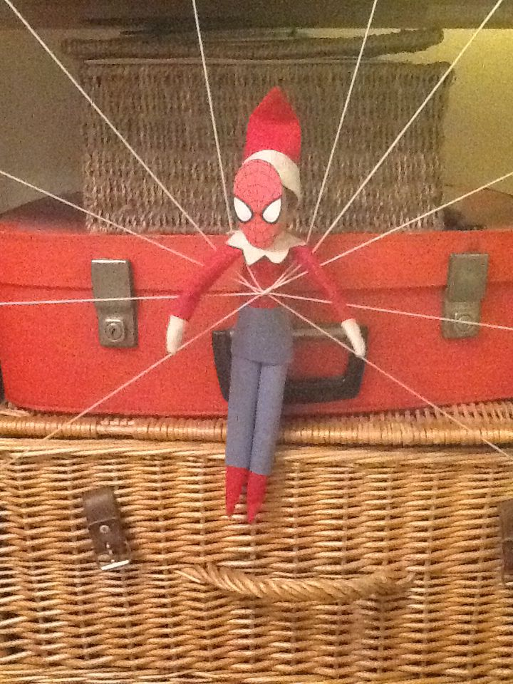 It's spider elf! Oh no what's this he appears to be trapped in his own web!
