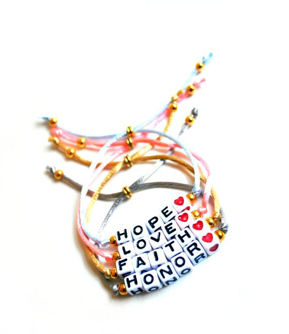 Alphabet Beads  Word/Name  Adjustable Bracelet by KnotSoFancy, $10.00