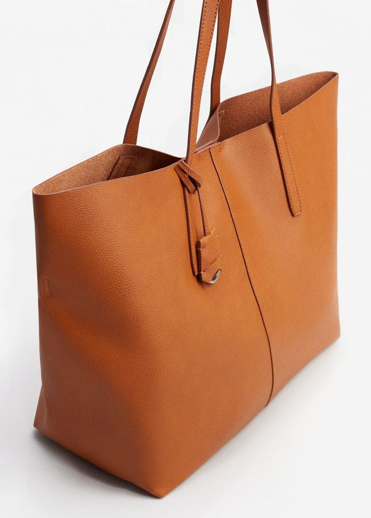 Pebbled effect shopper bag | MANGO