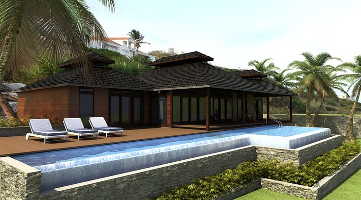 Render of the villa to be built on the island of St. Maarten