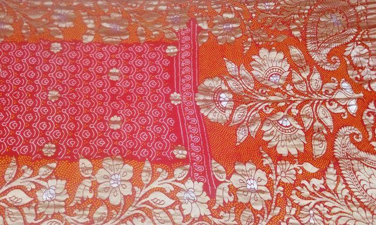 Pure georgette Bandhani Banarasi Saree  For more details call/whatsapp- 91-9377399299  #sankalpthebandhejshoppe #banarasisaree #bandhanisaree #tie&dye #saree #designersaree #bandhej #vadodara #ahmedabad #anand