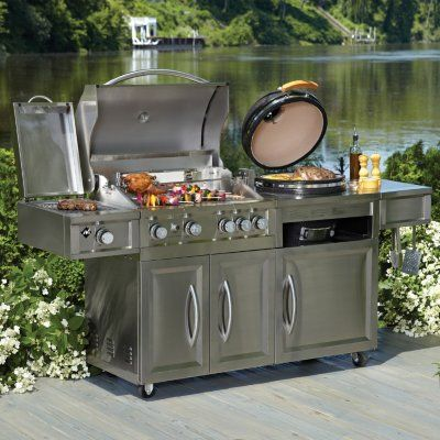 Sam S Club Member S Mark Gas Amp Kamado Combo Grill