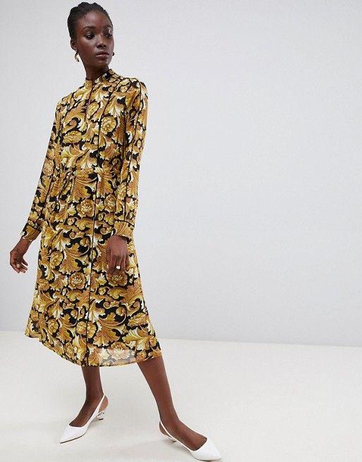 2e3d811c4dd9 Gestuz Aliva baroque maxi dress | ASOS | Dresses, Fashion, Latest dress