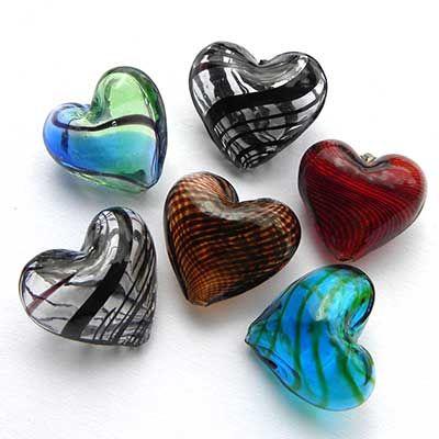 Blown Glass Hearts....