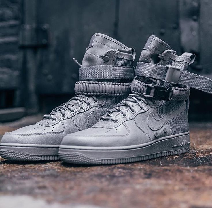 new concept 2057a 6f5f9 Air Force 1 Cement Nike Air Force 1 High Downtown Spike Black . ...