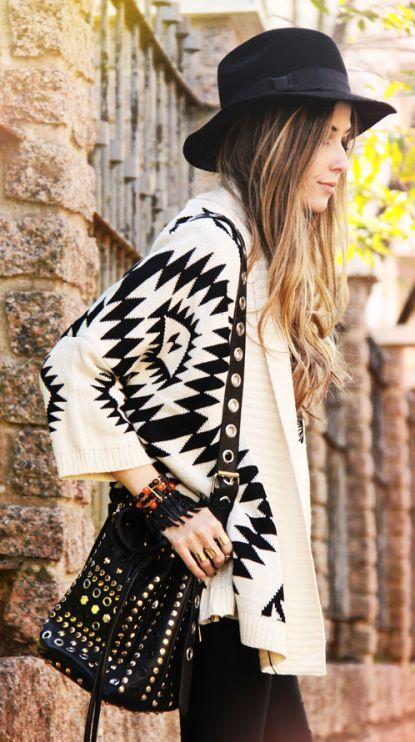 Boho. Similar style aztec cardigans on trendslove <3 #fall