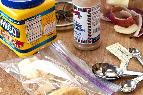 ingredients apple in a bag