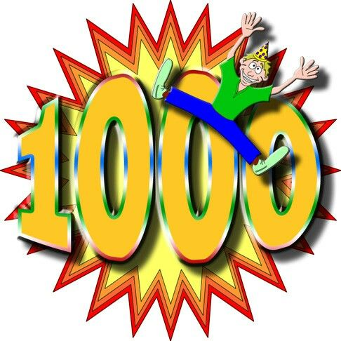 THANKS FOR 1000!!! :OOO :)
