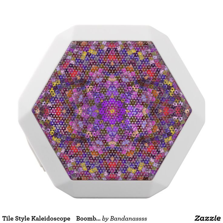 Tile Style Kaleidoscope    Boombot REX Speaker. Música, music. Producto disponible en tienda Zazzle. Tecnología. Product available in Zazzle store. Technology. Regalos, Gifts. #bocinas #altavoces #speaker