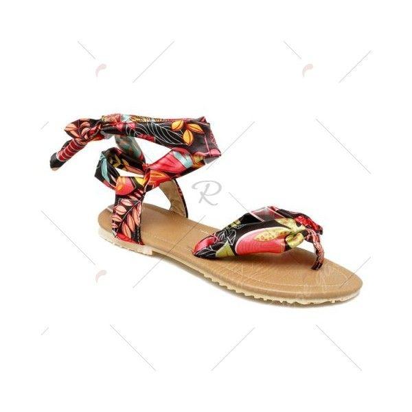 Black Leaf Print Ribbon Sandals (11 BHD) ❤ liked on Polyvore featuring shoes, sandals, black shoes, black sandals, leaf sandals, black ribbon shoes and ribbon shoes